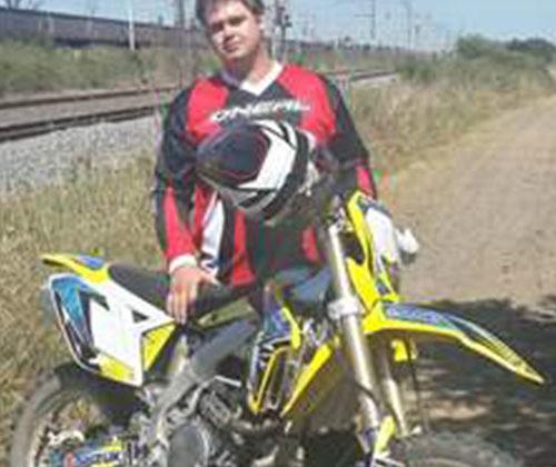 Bernard van Zyl and his RMX450