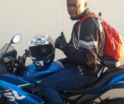 James feeling awesome in his new GSX150F