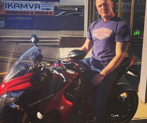 Gerhard Koekemoer & his new Suzuki