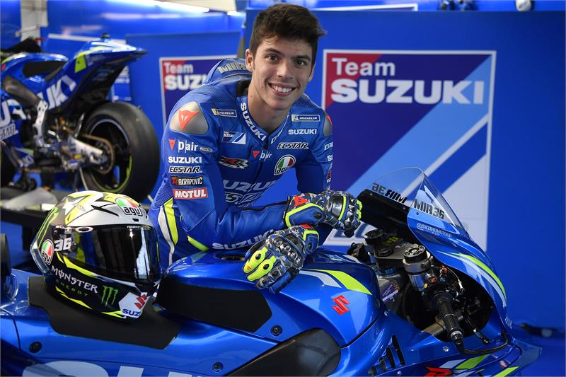 1st Images Of Joan Mir In Suzuki Colours Available To Download