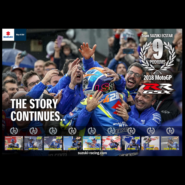 Suzuki MotoGP 2018 Podium Celebration Wallpaper Online