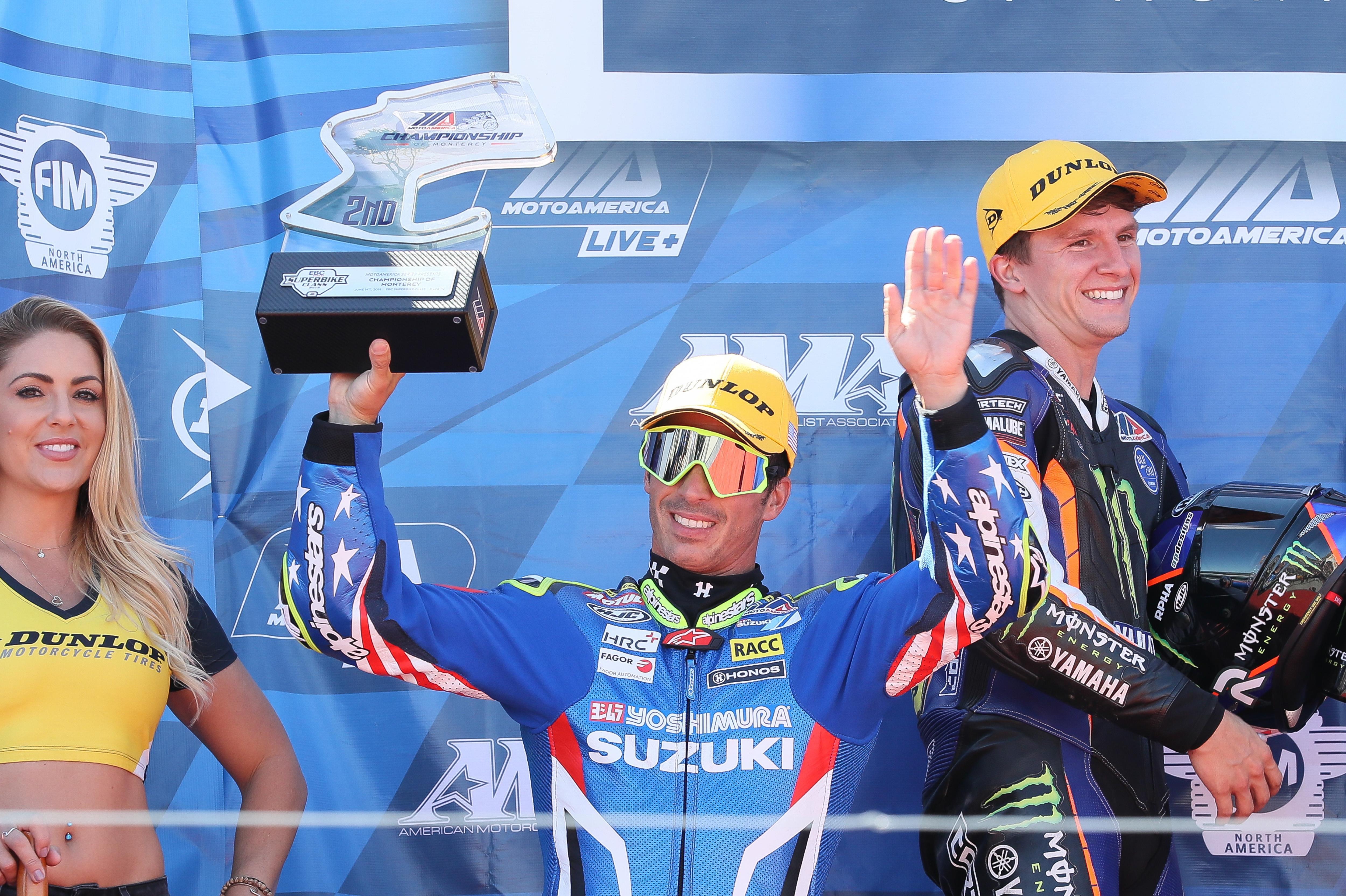 Elias & Yoshimura Suzuki GSX-R1000 Win Laguna Seca