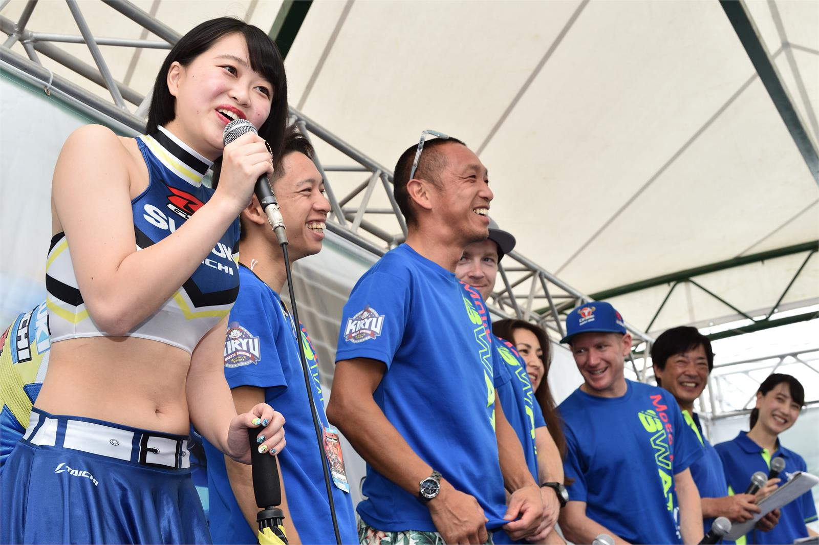 Suzuki Riders Take To The Stage At The  SUZUKA 8 Hours