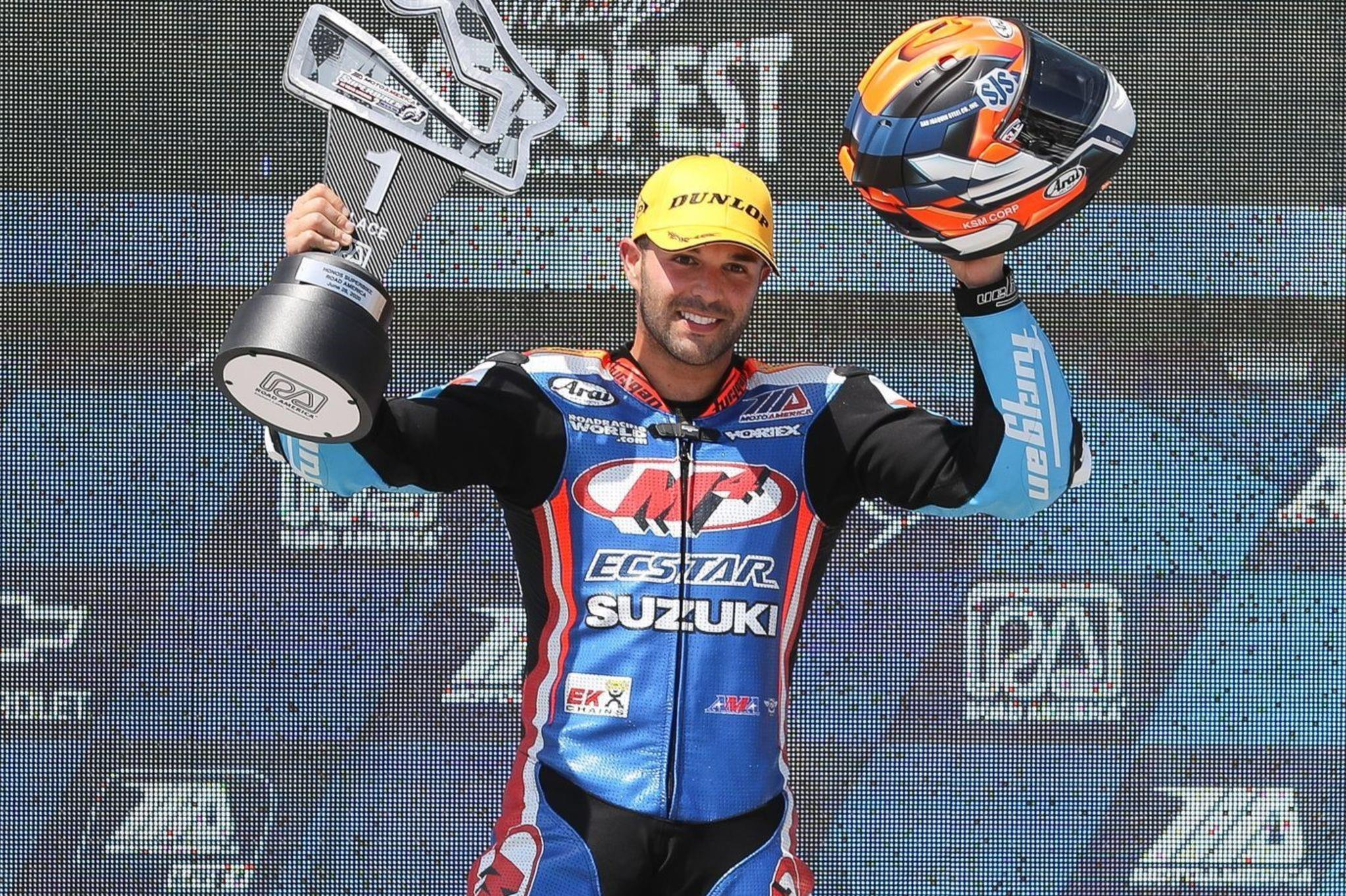 Boby Fong And M4 ECSTAR Suzuki Win At Road America SBK