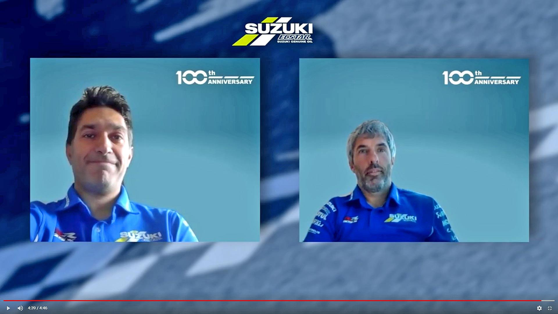Team Suzuki Ecstar MotoGP Working In Quarantine Video