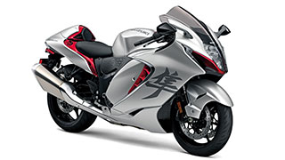 hayabusa 2021 silver and red