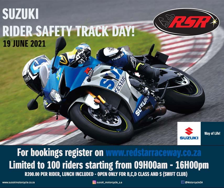 SUZUKI RIDER SAFETY TRACK DAY!